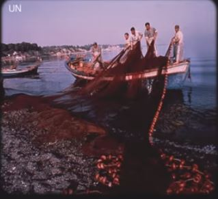 Fishing boat with nets 79