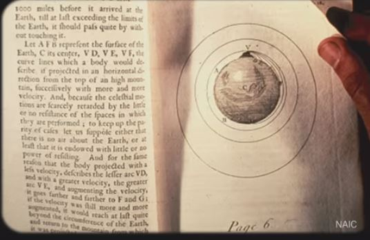 Page of book (Newton, On the System of the World) 111