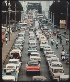 Rush hour traffic, Thailand 102